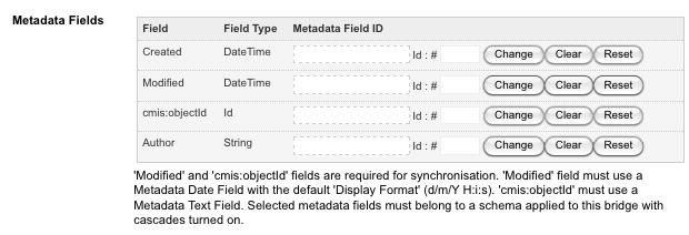 The Metadata Fields field