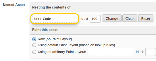 Nesting the Edit  Code Page
