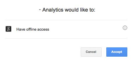 Google Analytics Authentication