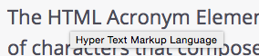 Acronym Tooltip