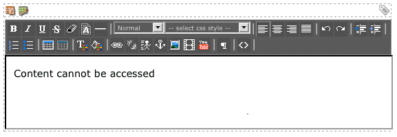 The WYSIWYG Editor for the Error Messages field