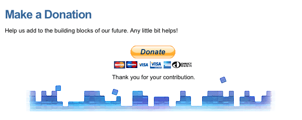 An example site with a Donation button