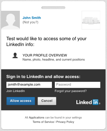 LinkedIn Authentication