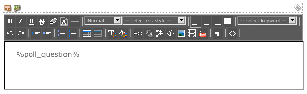 The WYSIWYG Editor on the Past Questions List Format Bodycopy