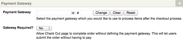 The Payment Gateway section of the Details screen