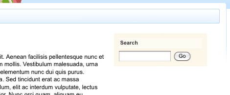 The Search Box within the Design of a Site