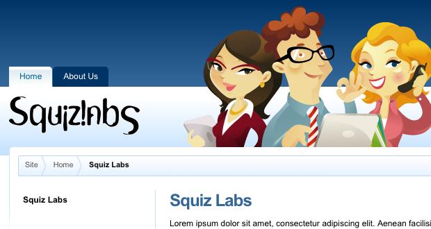 The Design Customisation displaying the Squiz Labs logo