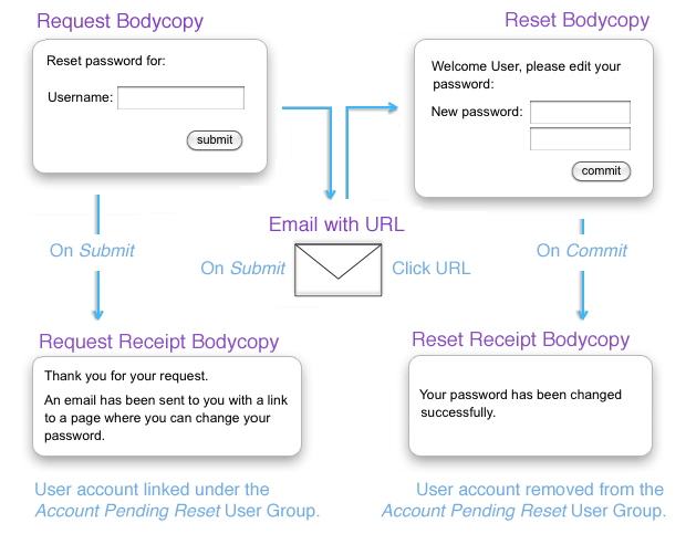 The process of the Password Reset Page