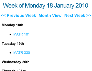 The List With Headings Option for the Week View