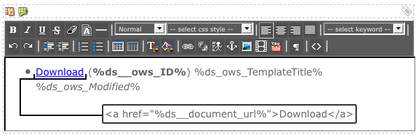 WYSIWYG Editor on the Default Format Bodycopy