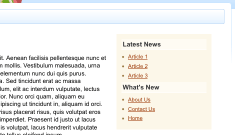 The Home Customisation nesting the What's New and Latest News pages