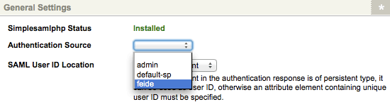The Feide Authentication Source
