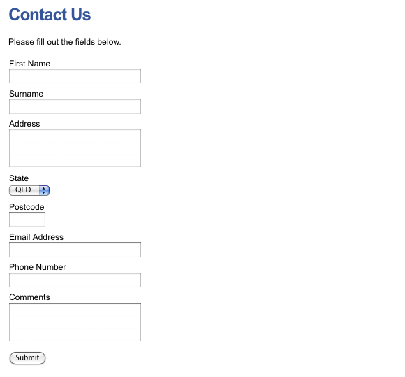 The new layout of the Custom Form