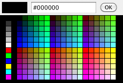 The colour picker