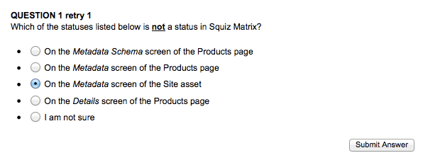 Retry Question 1 on the Interactive Quiz