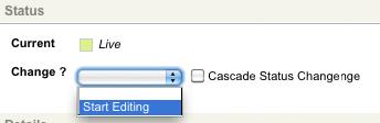 The Start Editing status change