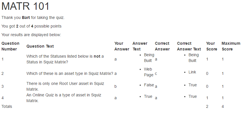 Squiz Matrix Community: How To Create An Online Quiz - Tutorials