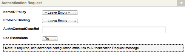 The Authentication Request section of the Details Screen