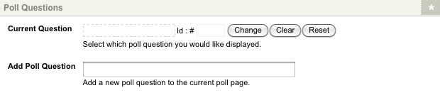 The Poll Questions section of the Details screen