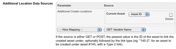 The Current Asset Additional Location Source Dynamic Parameter
